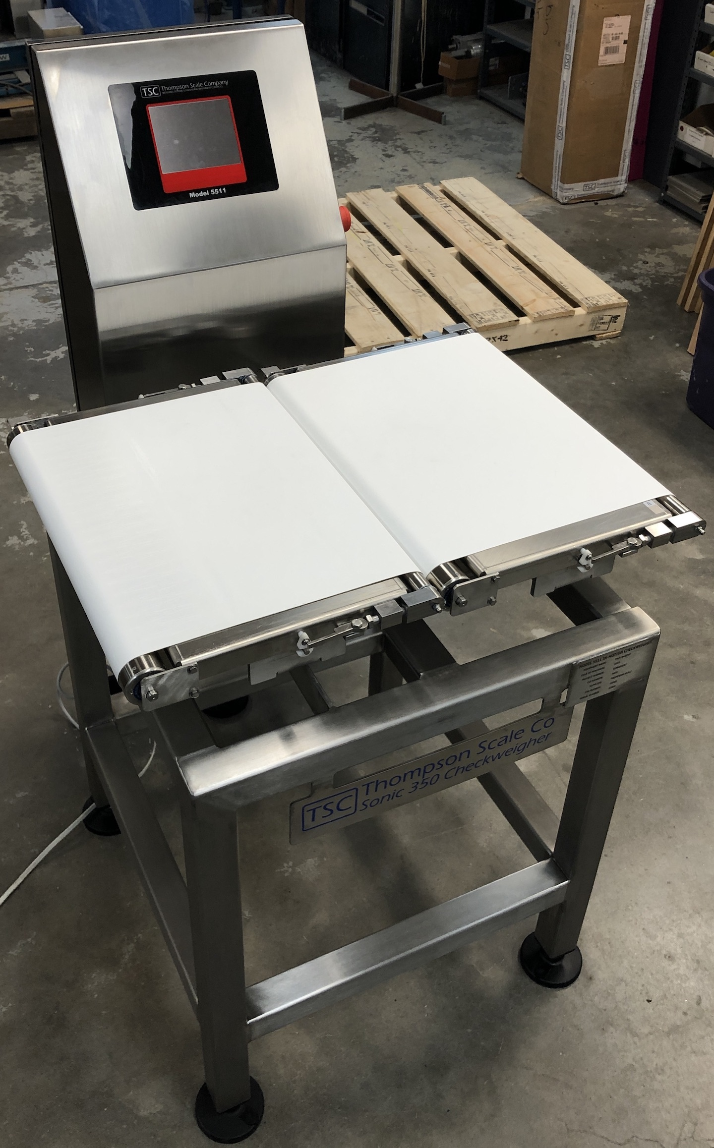 Wide Belt Sonic 350 Checkweigher