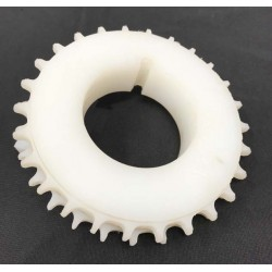 UHMW Sprocket for plastic mesh belting systems